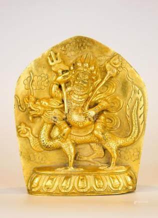 A Rare  Gilt Bronze Figure Of Buddha