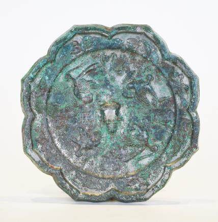A Tang Period Octagonal 'Phoniex' Bronze Mirror