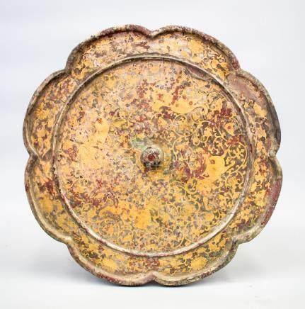 A Fine Octagonal Gilt Bronze Mirror