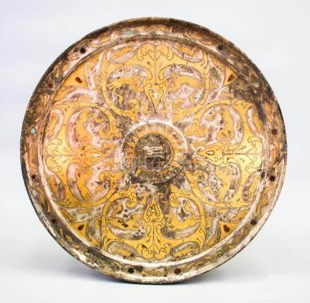 A Fine Gilt Bronze 'Beast' Mirror