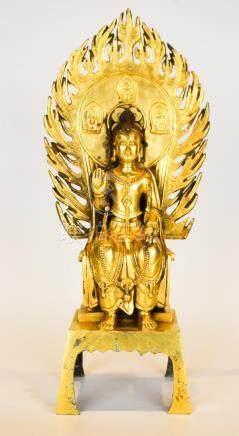 A Fine Gilt Bronze Figure Of Buddha