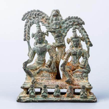 An Indian Pala Style Bronze Figure Of Bodhisattva