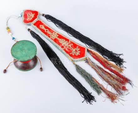 A Chinese Tibetan  Zitan Tambourine
