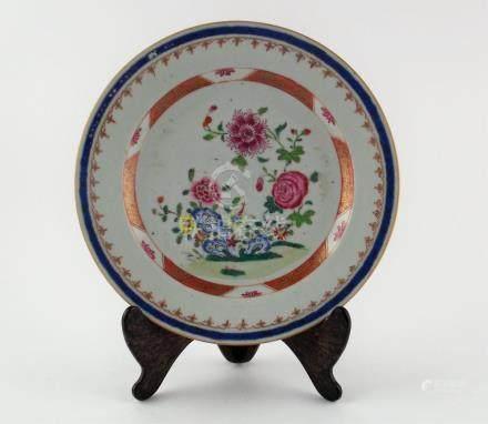 "PAR DE PLATOS CHINOS. En porcelana decorada ""flores"". Pequeñ"