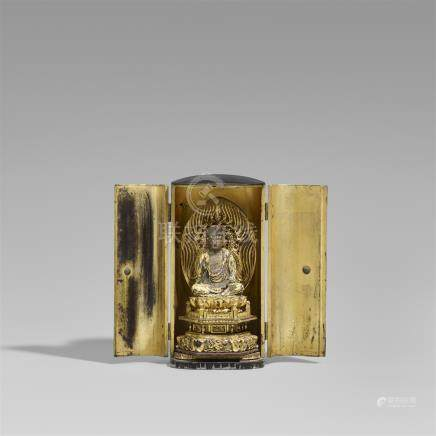 A lacquered and gilt wood zushi. 18th/19th century