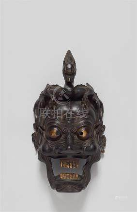 A wood model of a Ranryô mask. Late 19th century