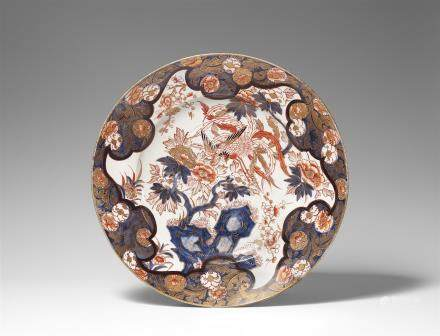 A large Imari charger. Arita. 19th century