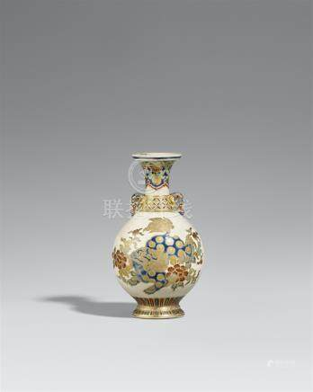 A Satsuma vase. Around 1860/70