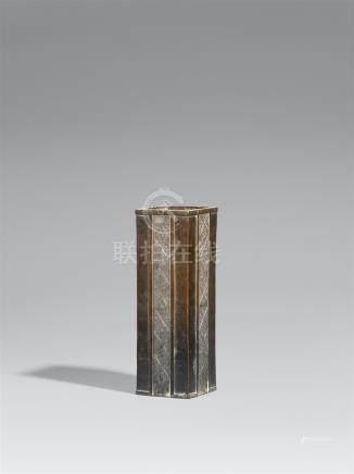 A bronze vase. Edo period
