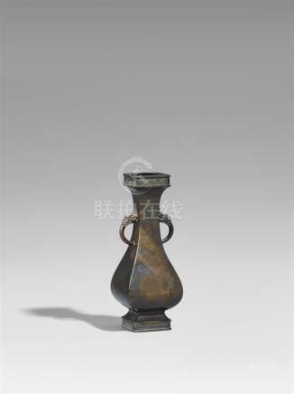 A bronze vase. 19th century