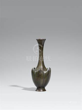 A bronze vase. Late 19th century
