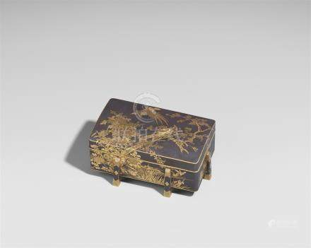 A Komai-style iron karabitsu-type lidded box. Early 20th century