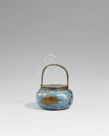 A cloisonné enamel incense burner. Late 19th century