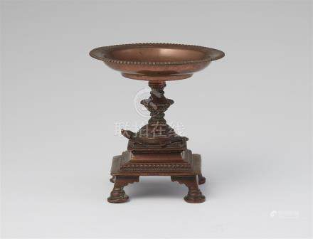 A small Central Indian copper alloy offering tray. 20th century