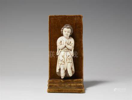 A probably Philippine ivory figure of an angel. 18th/19th century