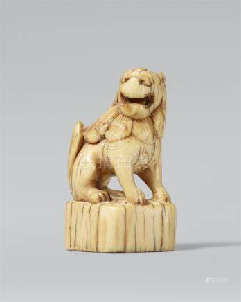 Seal netsuke. Ivory. 18th century