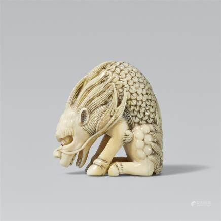 Hakutaku. Maritime ivory. Around 1800