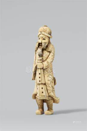 A standing Portuguese man. Ivory. Mid-19th century