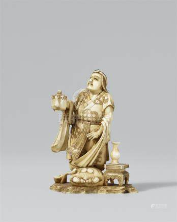 Man with a jug. Ivory. Late 19th century