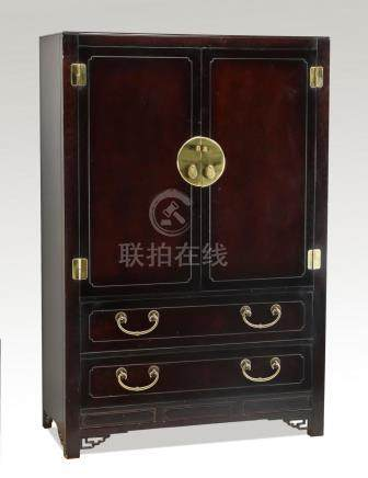 """Hickory White Chinoiserie style cabinet, 60""""h"""