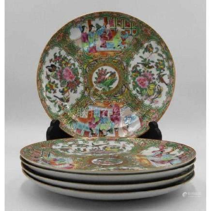 Rose Medallion ca 1860 (5) Dinner Plates