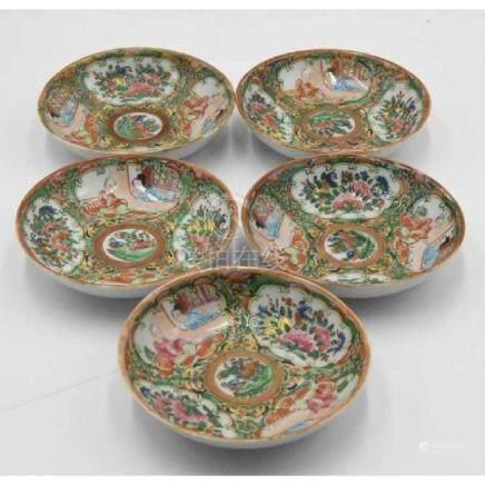 Rose Medallion ca 1860 (5) Small bowls