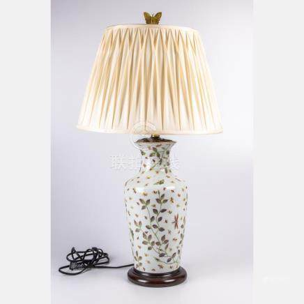 A Chinese Porcelain Vase mounted as a Table Lamp, 20th Centu