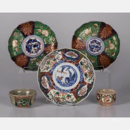A Group of Three Japanese Imari Porcelain Plates, 19th/20th