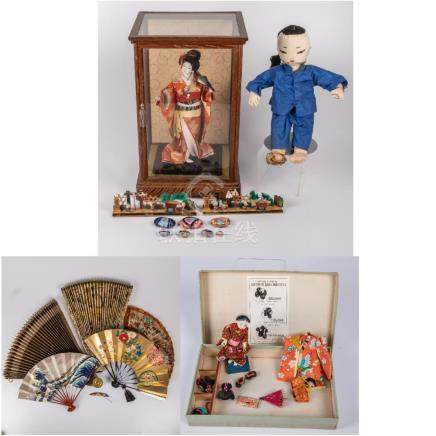 A Collection of Japanese Dolls and Decorative Items, 20th Ce