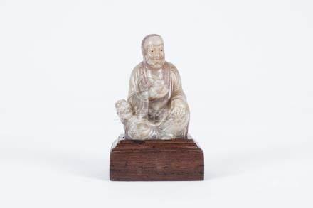 Chinese carved jade buddha.