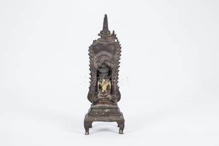 Chinese gilted bronze figure of Buhhda,