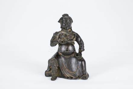 Chinese bronze figure of Guanyu.