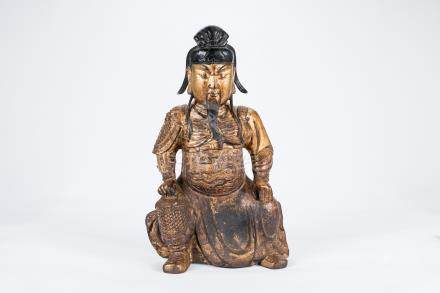 Chinese gilted bronze figure of an immortal.