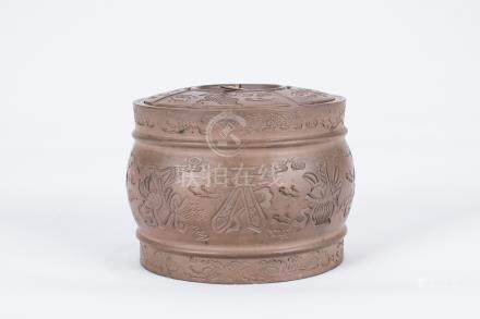 Chinese yixing pottery jar.