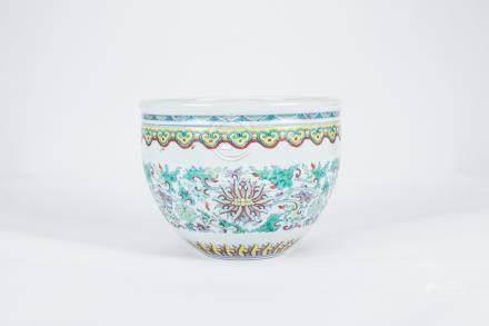 Chinese Doucai porcelain jardienere.