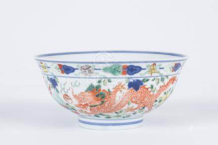 Chinese famille rose porcelain bowl, Qianlong mark.