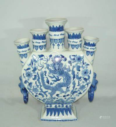 Large five hole palace vase.