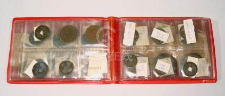 Lot of antik chinese coins