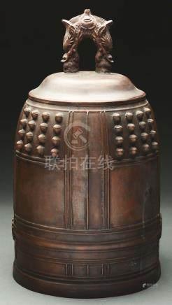Cast Bronze Buddhist Temple Bell.