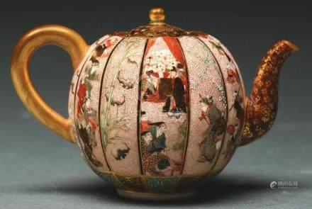 Exceptional Miniature Satsuma Seikozan Teapot.
