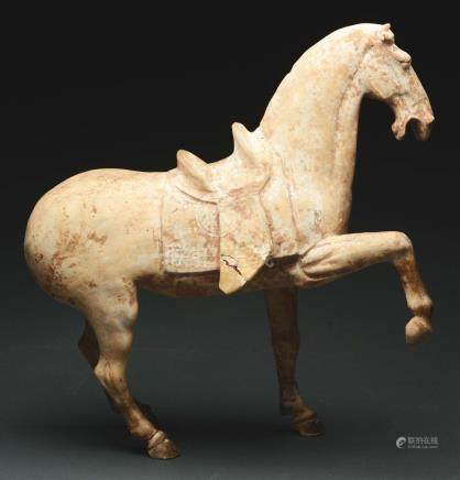 Rare Terra Cotta Horse Funerary Figure, T'ang Dynasty.