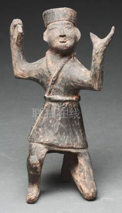 Terra Cotta Boy Dressed as a Cossack Dancer. Wei Dynasty