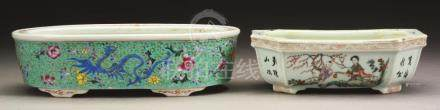 Group Of 2: Chinese Porcelain Planters.