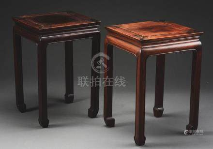 Pair of Hungmu Side Tables
