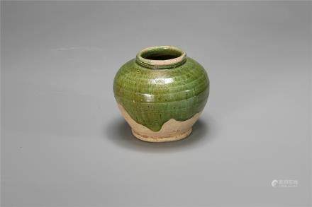 A Gongxian Kiln Green-Glazed Jar Of Tang Dynasty(618-907)