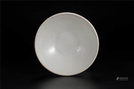A Xing Kiln White-Glazed Bowl Of Five Dynasties Period