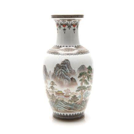 A Mid-20th Century Chinese Famille Rose Vase