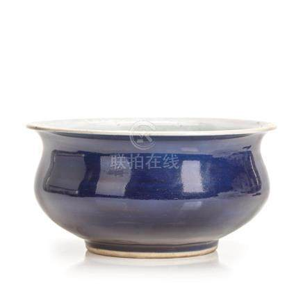 An 18th Century Chinese Indigo Glazed Censer