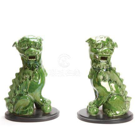 A Pair of Chinese Lions Dogs