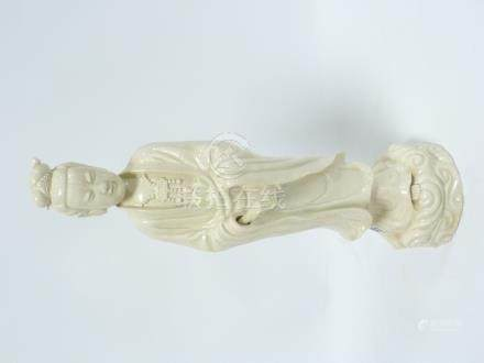 Large Chinese blanc de Chine figure of Guanyin. 43cm high.